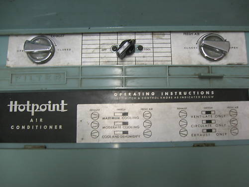 1954 Hotpoint Airconditioner Controls
