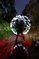 d-flowerd (/*syn*/) Tags: longexposure nightphotography sculpture creek hexagon hex strobe alternate stobist lightpaitning