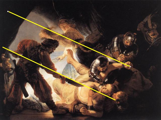 The blinding of Sanson - Composicion