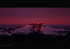 Alpenglow (AlpineEdge) Tags: camping light sky sun mountain snow canada reflection clouds sunrise hiking britishcolumbia earlymorning skagitvalley scrambling pinkglow eatonpeak sowerbymountain