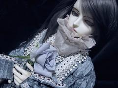 Virocana:with rose Blue Heaven from my garden (borometz) Tags: art rose toy doll vampire bjd   dim 13 ws  balljointdoll blueheaven  danbi whiteskin dollinmind  virocana