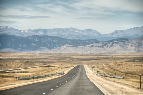 Highway in Wyoming