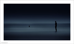 Waiting for the tide (Ian Bramham) Tags: sea beach water photography photo nikon fineart statues explore frontpage crosby antonygormley anotherplace 70300vr d700 ianbramham welcomeuk