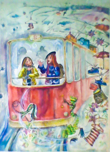 Talk, 2001 Watercolor on paper