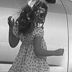 (Noa Ka) Tags: world street camera bw art girl hair square photography israel photo blackwhite back hand dress photos jerusalem young fujifilm 2010 einkerem s5700