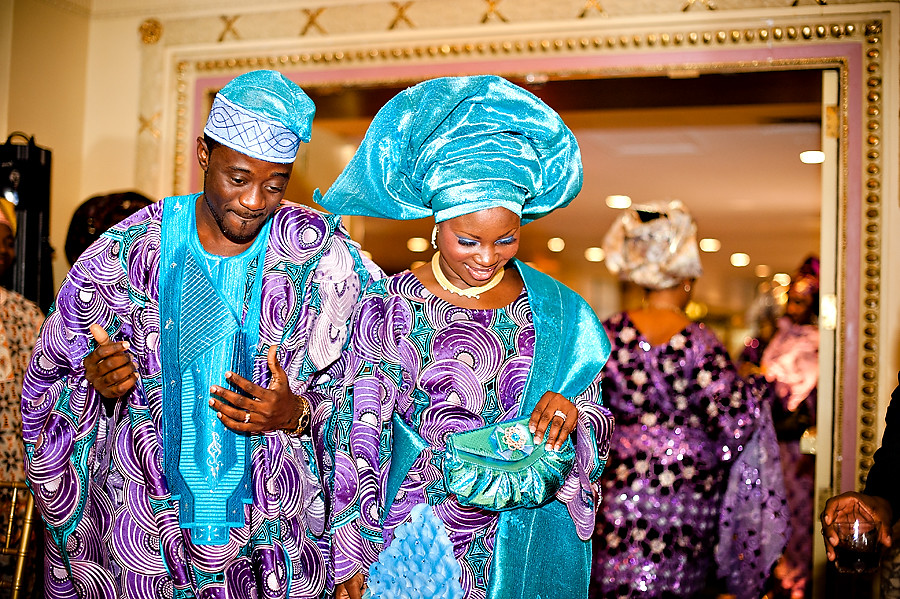 Raheem and Aisha Change dor the reception