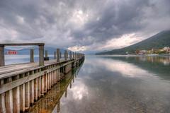 Lake Chuzenji (FrancoisMalan) Tags: lake reflection water clouds pier nikko hdr chuzenji