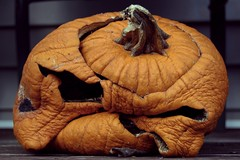 (Bethany Yates) Tags: rotting face pumpkin grumpy wrinkles