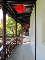 Cool Corridor (Anomieus) Tags: park city red plants history nature water beautiful vancouver garden landscape rocks chinatown bc path chinese culture peaceful foliage vista classical serene fengshui tradition ming taoism sunyatsen enchanting classicalchinese