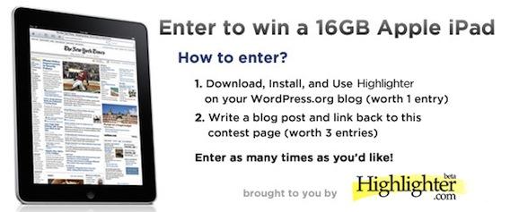 Highlighter iPad Contest!