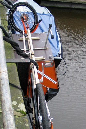 cargobike almost in canal 1