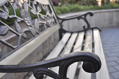 Wrought Iron Bench (TK-35) Tags: sunset bench islamabad wroughtironbench shakarparian nikond5000 sigmawideangle24mmf28