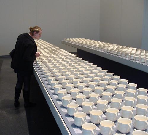Sarah picks a cup