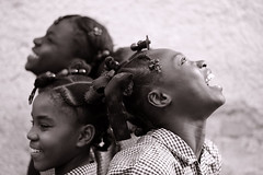 HTI-Croix des Bouquets-1011-062-bw2 (anthonyasael) Tags: school girls portrait black girl smile smiling horizontal kids america children fun happy haiti kid uniform child portraiture schoolchildren braids enjoying plaits braid plait portauprince girlsonly caribbeanislands topb croixdesbouquets anthonyasael portofprince