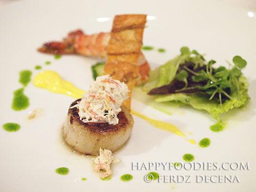 Scallops, Prawn and Crab Salad