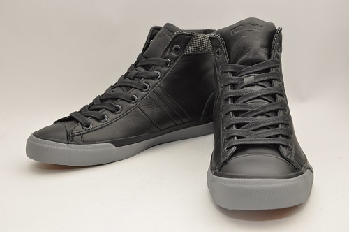 Royal Plus Hi - Black Tweed Leather