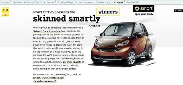 Skinned Smartly contest page