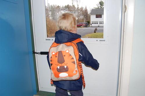 Sportin' the backpack