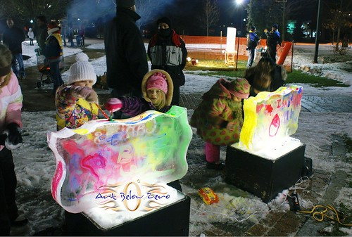 Kids Ice Painting interactive ice sculpture