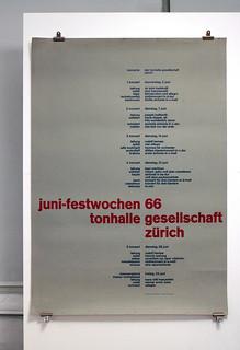 Juni-festwochen 1966 - Tonhalle Gesellschaft Zürich