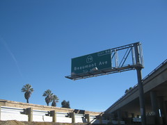 Beaumont CA Freeway Offramp Exit Signs Off the 10 Freeway - Beaumont Ave Exit HWY 79