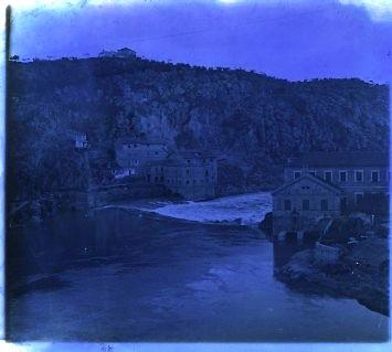 Turbinas de Vargas en los años 20. Fotografía de Ángel del Campo Cerdán (ensayo de color)