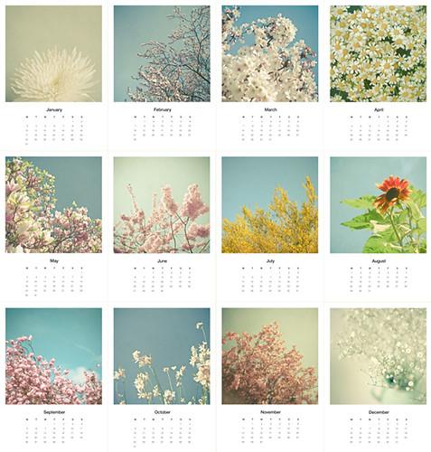 Calendar - Floral
