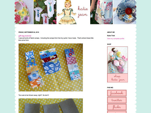 katie jean blog design