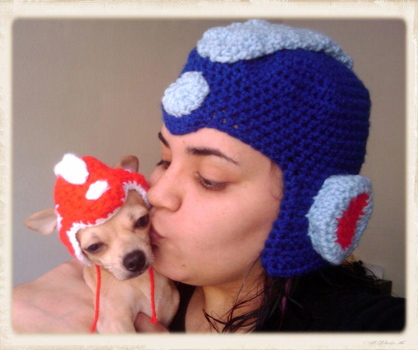 5a23274535a conan and me (crafty dork) Tags  hat crochet helmet rush beanie megaman