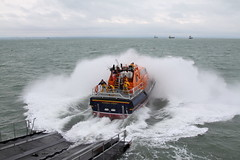 BEMBRIDGE LIFEBOAT 16-17 (John Ambler) Tags: sea rescue class lifeboat solent launch tamar slipway bembridge rnli 1617 rnlb alfredalbertwilliams