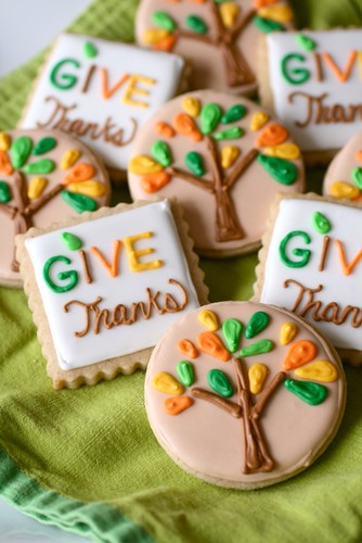 Cute Thanksgiving Cookies
