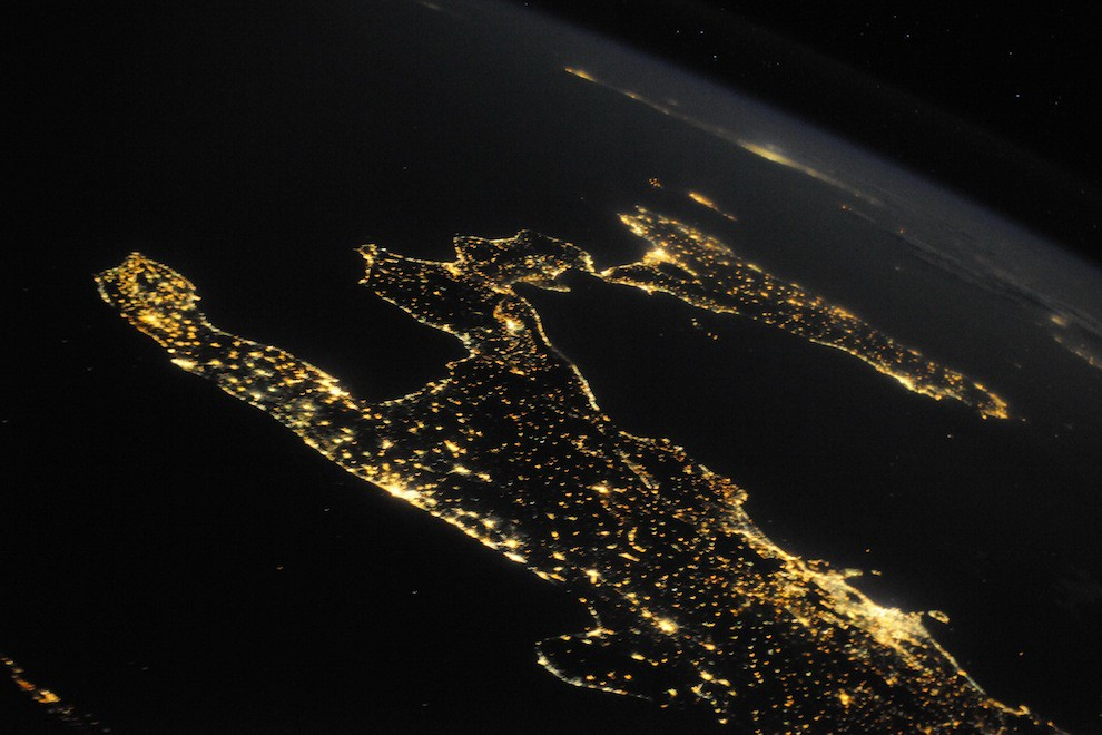 Incredible Photos from Space: Italy by night