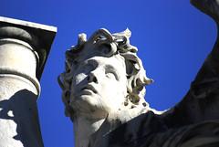 Bernini Sculpture, Ponte Sant'Angelo, Roma (nikon80cat) Tags: bridge italy pope vatican stpeters rome roma italia statues ponte cello tiber tevere busker bernini sculptures castelsantangelo spietro