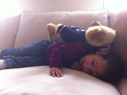 Laila with her bear
