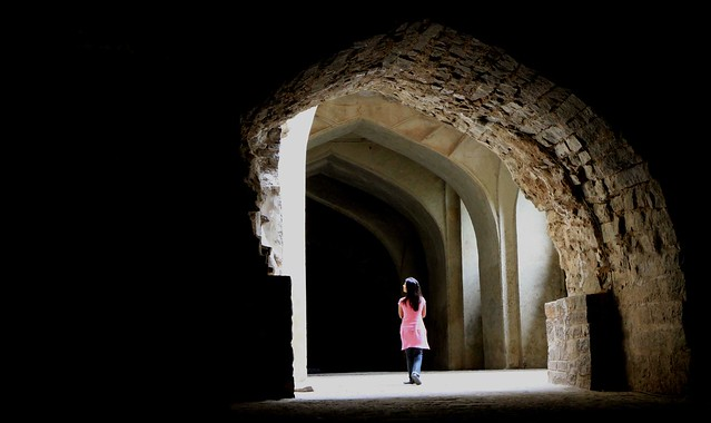 Inside the palace, Golconda Fort