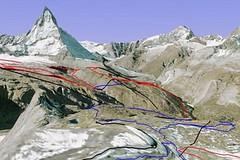 Lyžařská 3D mapa