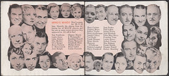 MGM Screen Forecast 1935-36 Booklet Pgs. 21-22 (captainpandapants) Tags: cinema classic film 1936 vintage ads movie advertising stars 1930s antique retro hollywood actress acting movies actor booklet mgm flier silverscreen culvercity 1935 moviestudio roberttaylor robertyoung brianaherne robertbenchley franchottone frankmorgan unamerkel metrogoldwynmayer rosalindrussell louisefazenda brucecabot madgeevans maureenosullivan elizabethallan bettyfurness franceslangford paullukas jeanhersholt eleanorpowell luiserainer jeanparker ednamayoliver mayrobson dianawynyard lewisstone virginiabruce natpendleton stuarterwin chestermorris tedhealy henrystephenson marycarlisle ottokruger juneknight josephcalleia harrystockwell cbutterworth frankshields jweissmuller louisehenry