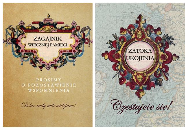 Karolina & Zbyszek – poligraficzne dodatki