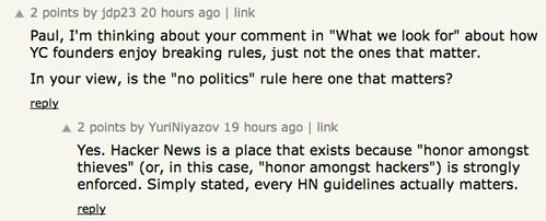 Every HN guideline matters