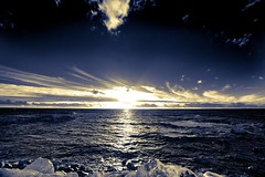 Azul (davizalvarez) Tags: azul atardecer mar sony paisaje baiona sigma1020exdc platinumphoto alpha350 alfa350 davizalvarez