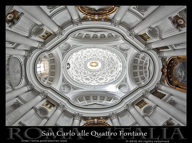 Roma - San Carlo alle Quattro Fontane - Cùpula de Borromini
