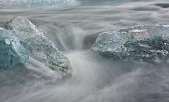 Iceberg Flow Jökulsárlón Lagoon (Reed Ingram Weir) Tags: travel cold canon flow waterfall iceland nikon fineart iceberg combo watermovement jökulsárlónlagoon reedingramweirriwp