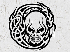 POWER (Black Crown . tribal) Tags: white black art skull design arte tribal esqueleto tatoo ilustration
