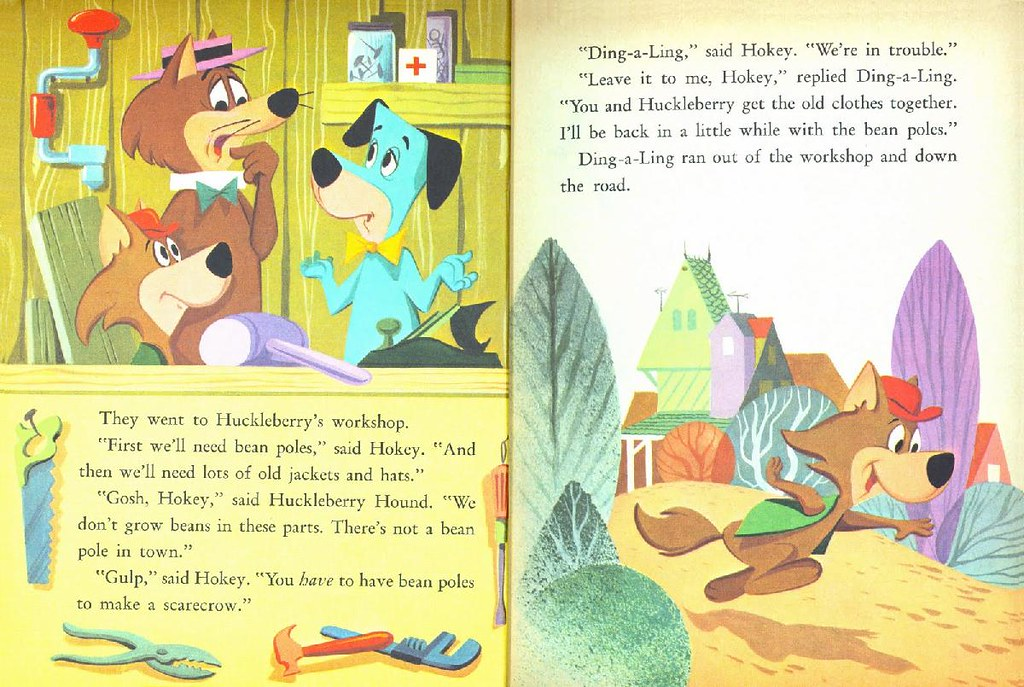 Hokey Wolf & Ding-a-Ling Featuring Huckleberry Hound007