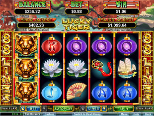 free Lucky Tiger slot free spins