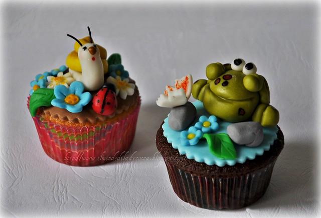 cupcake decorati.... Lumaca e Ranocchia