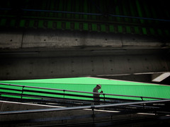 mp4 (Carlos Ebert) Tags: green concrete loneliness lonely busstation mp4