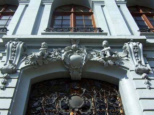 decoration on house Rheinsprung Basel