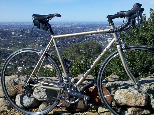 James' road bike overlooking San Diego