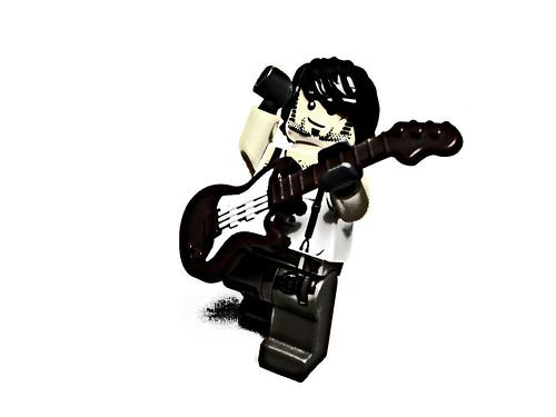 Custom minifig I Love Rock 'N Roll